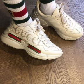 f4fdfab1d Gucci Rhyton Logo Leather Sneakers for Ladies (Replica) ₱ 4